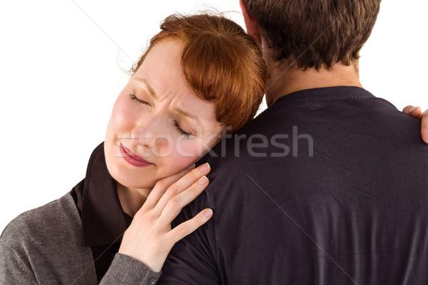 Korkmuş kadın adam beyaz üzücü Stok fotoğraf © wavebreak_media