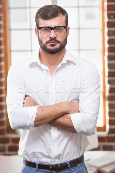 Sérieux affaires bureau portrait jeunes shirt Photo stock © wavebreak_media