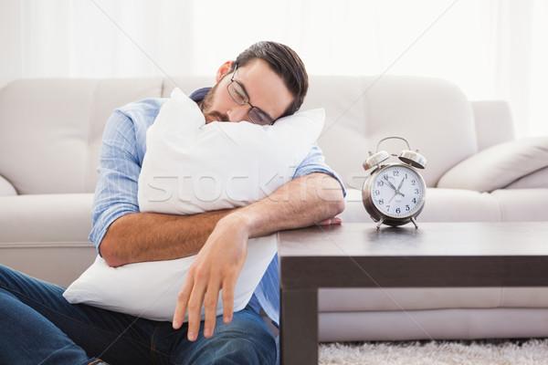 Agotado hombre dormir cabeza almohada Foto stock © wavebreak_media