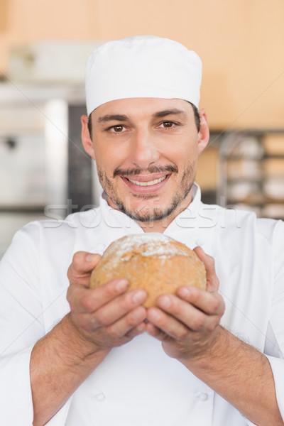 Pék frissen sült cipó konyha pékség Stock fotó © wavebreak_media