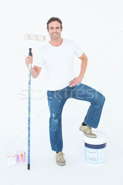 Adam beyaz tam uzunlukta portre kâğıt Stok fotoğraf © wavebreak_media