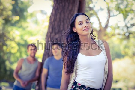 Woman upset at her crush with other girl Stock photo © wavebreak_media