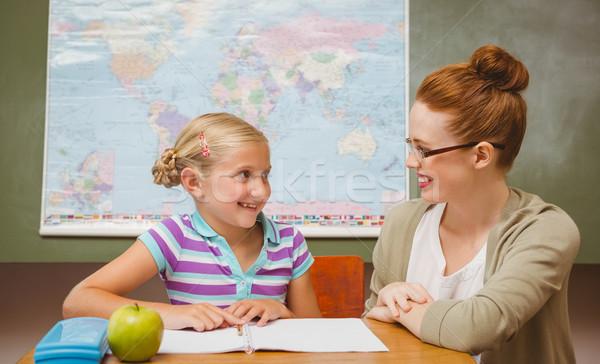 Enseignants fille devoirs classe portrait petite fille Photo stock © wavebreak_media