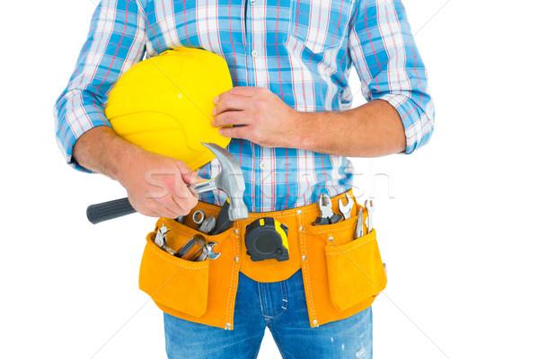Utasítás munkás visel szerszám öv tart Stock fotó © wavebreak_media