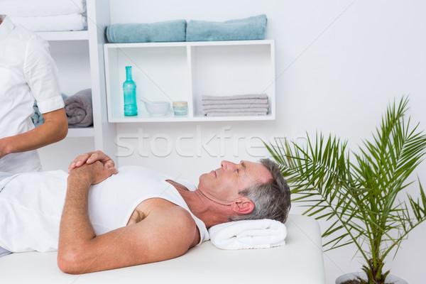 Beteg orvosi iroda nő férfi egészségügy Stock fotó © wavebreak_media