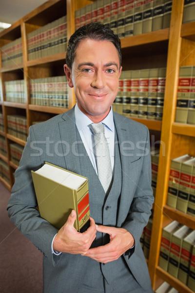 Adwokat czytania książki prawa biblioteki uczelni Zdjęcia stock © wavebreak_media
