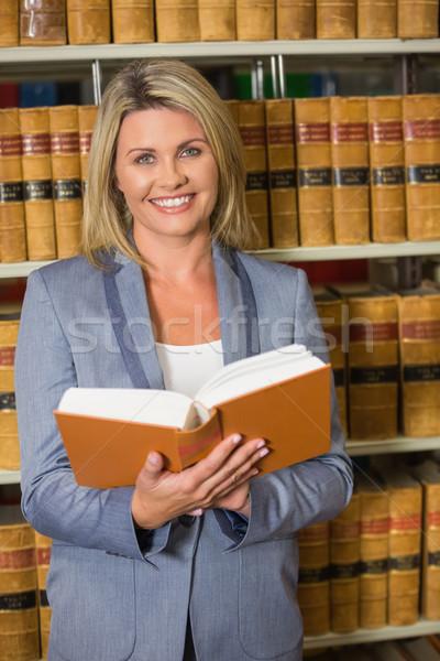 адвокат книга прав библиотека университета Сток-фото © wavebreak_media