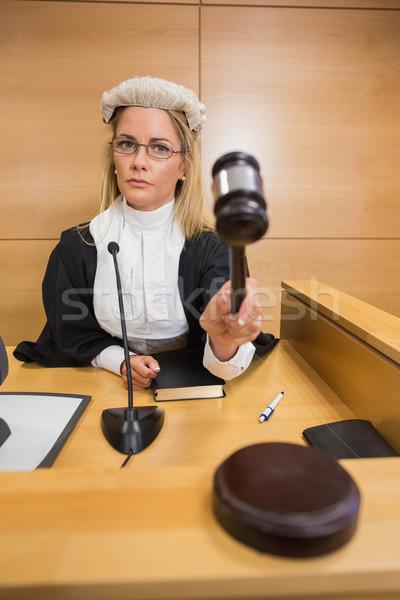 Stern judge banging her hammer Stock photo © wavebreak_media