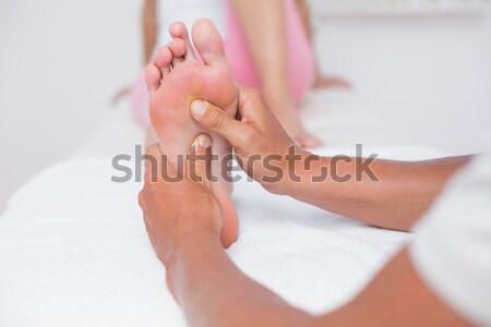 Ramię masażu medycznych biuro kobieta zdrowia Zdjęcia stock © wavebreak_media