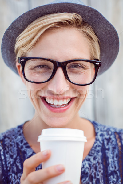 Pretty blonde woman holding goblet Stock photo © wavebreak_media