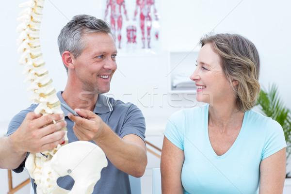 Colonna vertebrale modello paziente medici ufficio Foto d'archivio © wavebreak_media