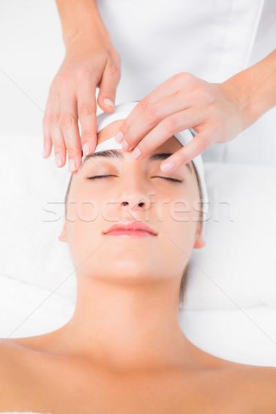 手 ワックスがけ 美しい 眉 女性 ストックフォト © wavebreak_media