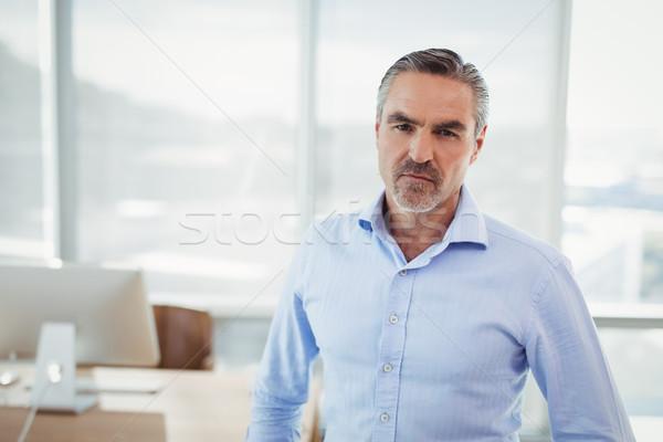 Portré bizalom igazgató áll iroda számítógép Stock fotó © wavebreak_media