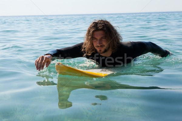 Surfer серфинга морем человека природы Сток-фото © wavebreak_media