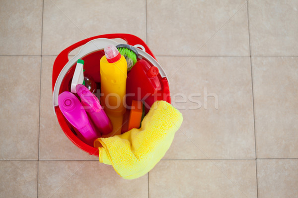 Wiadro Płytka piętrze domu Zdjęcia stock © wavebreak_media