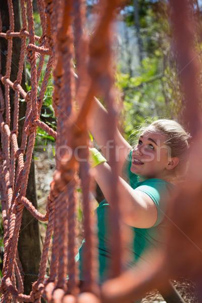 определенный женщину скалолазания чистой подготовки Сток-фото © wavebreak_media