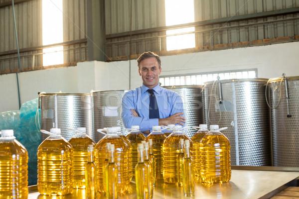Portret manager permanente olie fabriek Stockfoto © wavebreak_media