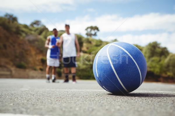 Blau Basketball Boden Spieler stehen Gericht Stock foto © wavebreak_media