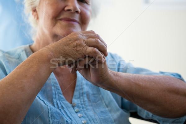 Close up midsection of senior woman Stock photo © wavebreak_media