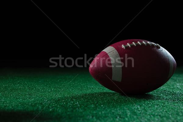 Közelkép amerikai futball mesterséges tőzeg fekete Stock fotó © wavebreak_media