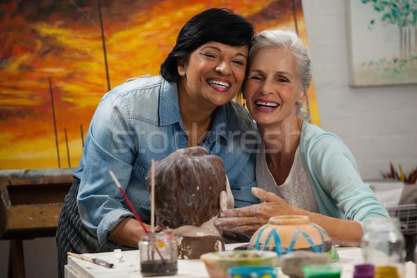 女性 絵画 彫刻家 図面 クラス 塗料 ストックフォト © wavebreak_media