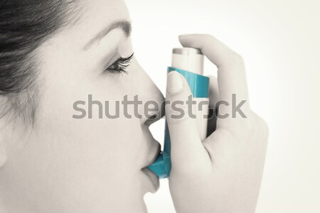 Brunette vrouw gezondheid mooie permanente mooie Stockfoto © wavebreak_media