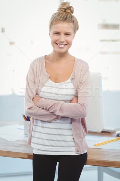 счастливым женщину портрет Постоянный служба Сток-фото © wavebreak_media