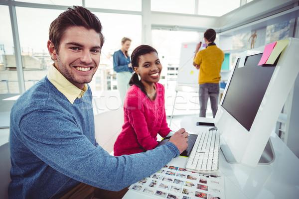 Creative бизнес-команды случайный служба человека Сток-фото © wavebreak_media