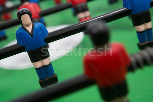 Asztal futball játék közelkép sportok műanyag Stock fotó © wavebreak_media