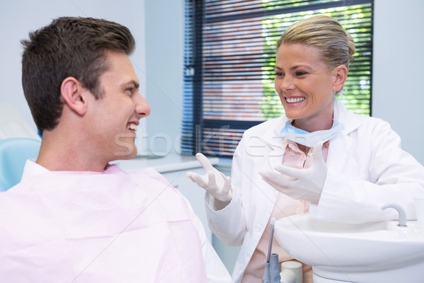 Feliz paciente dentista dentales clínica Foto stock © wavebreak_media