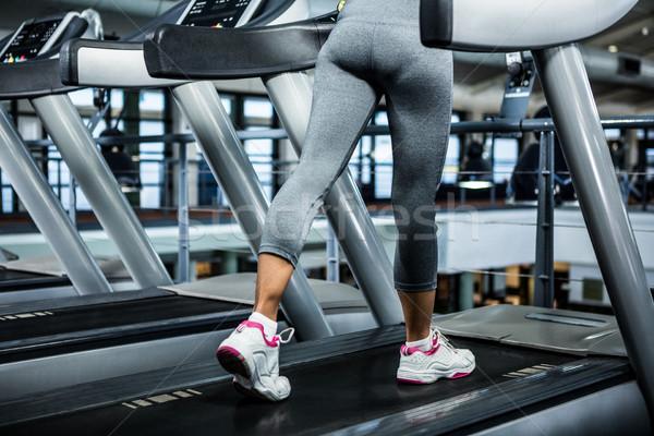 Mid section of woman using treadmill Stock photo © wavebreak_media