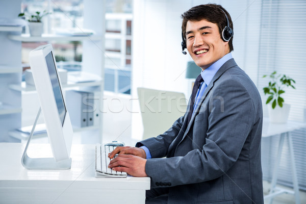 Biznesmen zestawu biuro baby szczęśliwy garnitur Zdjęcia stock © wavebreak_media