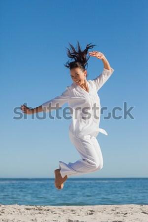 Brunetka jogi sexy ciało fitness Zdjęcia stock © wavebreak_media
