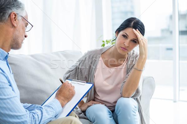 セラピスト 女性 ホーム 家 ペン 健康 ストックフォト © wavebreak_media