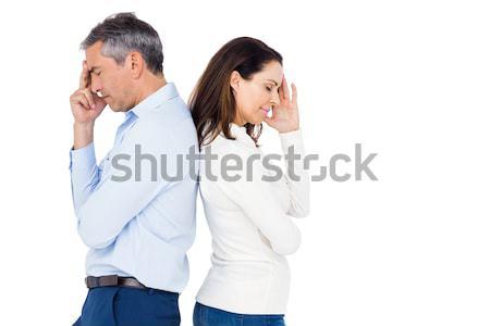 Couple ignoring each other Stock photo © wavebreak_media