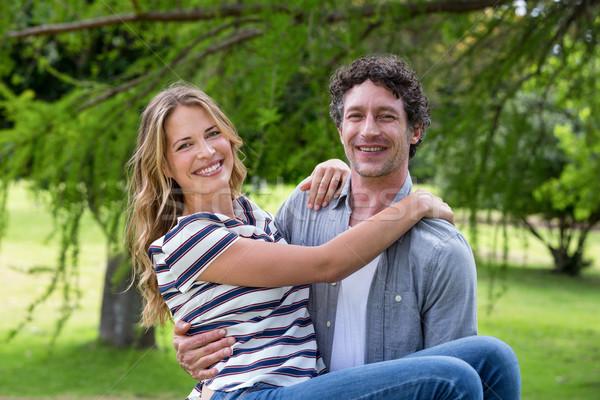 Marido esposa parque hierba verano Foto stock © wavebreak_media