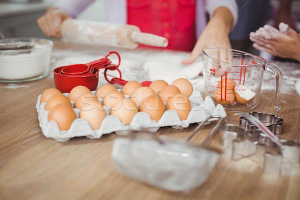 Kép nő ételt készít konyha otthon ház Stock fotó © wavebreak_media