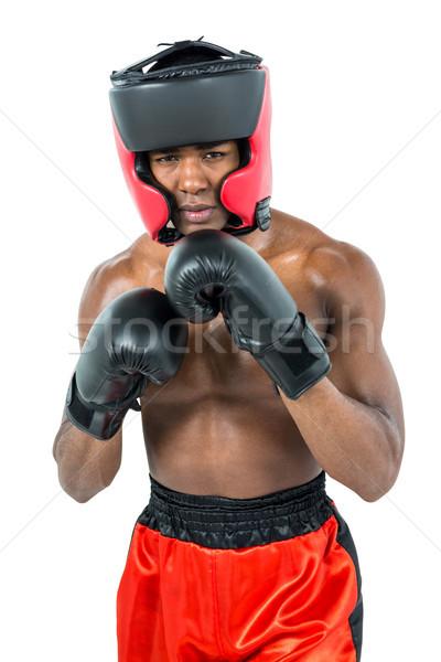Боксер бокса белый красный Сток-фото © wavebreak_media