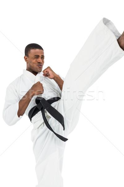 Combattente karate bianco fitness Foto d'archivio © wavebreak_media