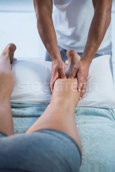 ногу массаж женщину клинике ребенка человека Сток-фото © wavebreak_media