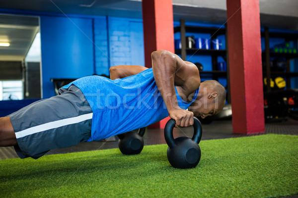 男性 選手 小さな フィットネス スタジオ ストックフォト © wavebreak_media
