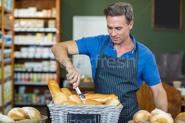 мужчины сотрудников рабочих хлебобулочные магазине супермаркета Сток-фото © wavebreak_media