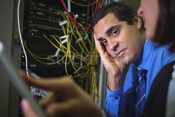 Technik nudzić serwera pokój miłości człowiek Zdjęcia stock © wavebreak_media