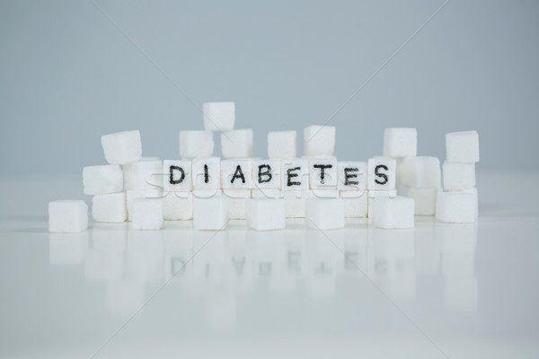 Sugar cubes spelling out diabetes Stock photo © wavebreak_media