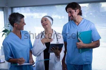 врач медсестры Xray посещение человека Сток-фото © wavebreak_media