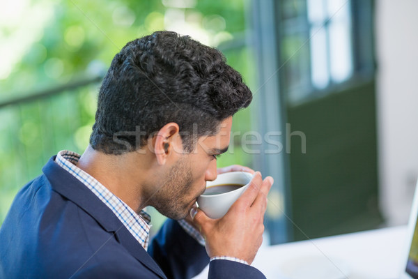 Businessman having coffee Stock photo © wavebreak_media