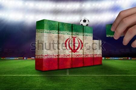 Fútbol Italia colores campo de fútbol plan fútbol Foto stock © wavebreak_media