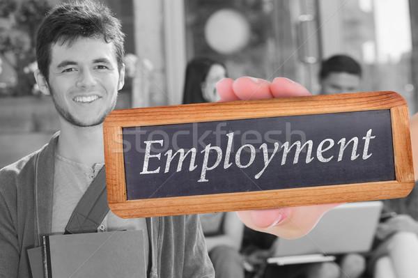 Empleo feliz estudiante sonriendo cámara fuera Foto stock © wavebreak_media