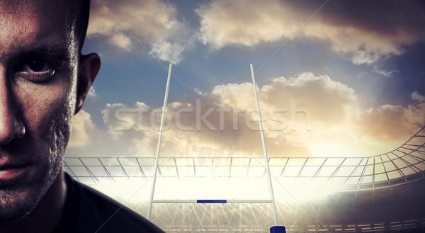 Imagen primer plano retrato grave rugby Foto stock © wavebreak_media