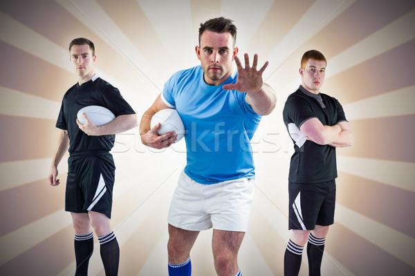 Görüntü sert rugby oyuncular doğrusal Stok fotoğraf © wavebreak_media